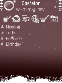 Snow Theme for Symbian S60 3rd Edition