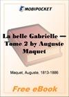 La belle Gabrielle - Tome 2 for MobiPocket Reader