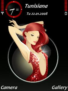 Lady in Red SVG Theme