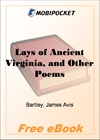 Lays of Ancient Virginia, and Other Poems for MobiPocket Reader