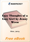 Lazy Thoughts of a Lazy Girl for MobiPocket Reader