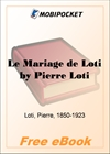 Le Mariage de Loti for MobiPocket Reader