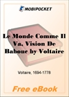 Le Monde Comme Il Va, Vision De Babouc for MobiPocket Reader