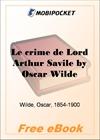 Le crime de Lord Arthur Savile for MobiPocket Reader