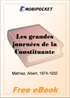 Les grandes journees de la Constituante for MobiPocket Reader