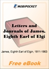 Letters and Journals of James, Eighth Earl of Elgin for MobiPocket Reader