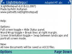 LightNotepad