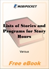 Lists of Stories and Programs for Story Hours for MobiPocket Reader