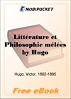 Litterature et Philosophie melees for MobiPocket Reader