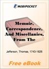 Memoir, Correspondence, And Miscellanies Volume 1 for MobiPocket Reader