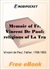 Memoir of Fr. Vincent De Paul for MobiPocket Reader