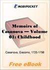 Memoirs of Casanova, Volume 01: Childhood for MobiPocket Reader
