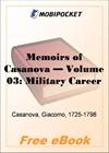 Memoirs of Casanova, Volume 03: Military Career for MobiPocket Reader