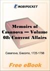 Memoirs of Casanova, Volume 08: Convent Affairs for MobiPocket Reader