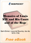 Memoirs of Louis XIV and His Court and of the Regency - Volume 01 for MobiPocket Reader
