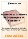Memoirs of Madame de Montespan - Complete for MobiPocket Reader