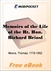 Memoirs of the Life of the Rt. Hon. Richard Brinsley Sheridan - Volume 01 for MobiPocket Reader