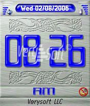 Metal&Gel Blue Style Digital for NiceClock2
