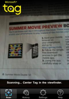Microsoft Tag reader