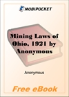 Mining Laws of Ohio, 1921 for MobiPocket Reader