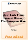 New York Times Current History; The European War, Vol 2, No. 3, June, 1915 April-September, 1915 for MobiPocket Reader