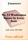 No. 13 Washington Square for MobiPocket Reader