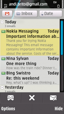 Nokia Messaging for Email