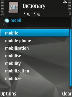 Nokia Mobile Dictionary Hebrew