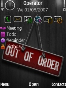 Out Of Order Theme for Symbian S60 3rd Edition