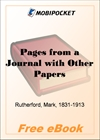 Pages from a Journal with Other Papers for MobiPocket Reader
