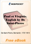 Paul and Virginia for MobiPocket Reader