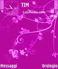 Pink Sea Flower Theme for Nokia N70/N90