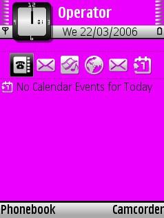 Pink White Theme for Nokia N70/N90