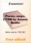 Poems (1790) for MobiPocket Reader