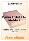 Poems by John Lawson Stoddard for MobiPocket Reader