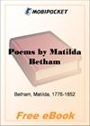 Poems by Matilda Betham for MobiPocket Reader