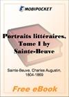 Portraits litteraires, Tome I for MobiPocket Reader