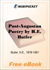 Post-Augustan Poetry From Seneca to Juvenal for MobiPocket Reader