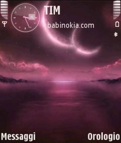 Purple Moonlight Theme for Nokia N70/N90