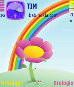 Rainbow Flower Theme for Nokia N70/N90