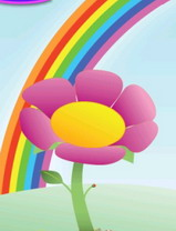Rainbow flower Theme