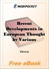 Recent Developments in European Thought for MobiPocket Reader