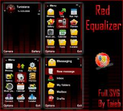 Red Equalizer SVG Theme