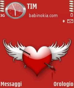 Red Heart Theme for Nokia N70/N90
