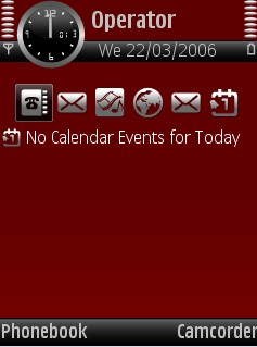 Red Theme for Nokia N70/N90