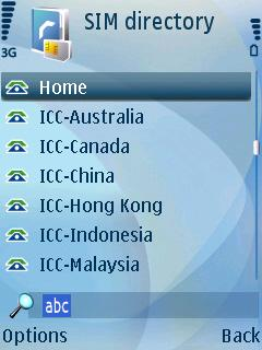 SIM Directory Contacts