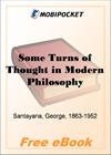 Some Turns of Thought in Modern Philosophy for MobiPocket Reader