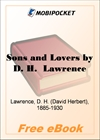 Sons and Lovers for MobiPocket Reader