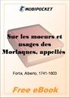Sur les moeurs et usages des Morlaques, appelles Montenegrins for MobiPocket Reader