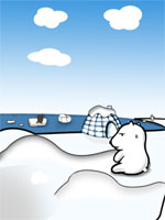 Sweating Polar Bear (Global Warming Series) Theme